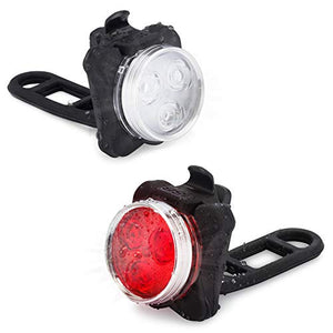 Vont USB Rechargeable Bike Light Set, Bright Front and Back Illumination, The Only LED Bicycle Light You'll Need. Super Long Battery Life, IPX4 Water Resistant, Lights, Accessories, 4 Different Modes - onlinesportsmall