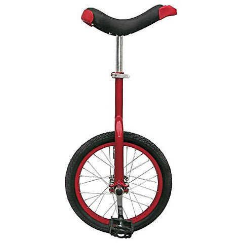 Fun 16 Inch Wheel Unicycle with Alloy Rim, Red - onlinesportsmall