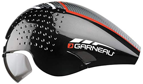 Louis Garneau - LG P-09 Aerodynamic, CPSC Safety Certified, TT Bike Helmet, Black/Red, Medium - onlinesportsmall