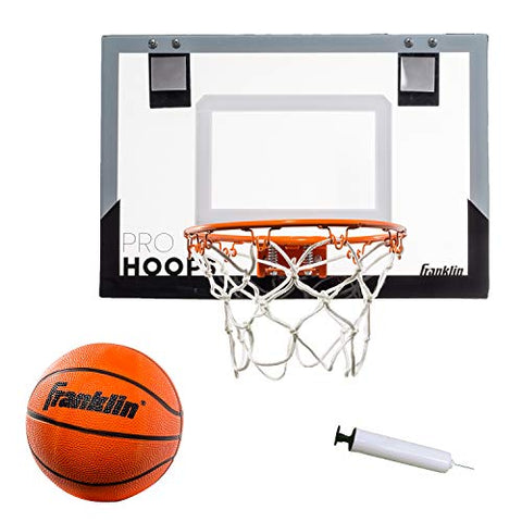 Franklin Sports Over The Door Mini Basketball Hoop - Slam Dunk Approved - Shatter Resistant - Accessories Included - onlinesportsmall