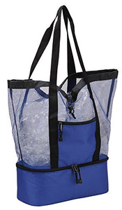 Drawstring Tote Cooler [Set of 2] Color: Blue - onlinesportsmall