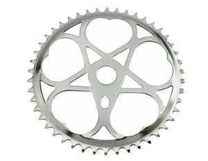Lowrider Chainring Js-s46 46t 1/2 X 3/32 Chrome. for bicycles, bikes, for lowriders, beach cruiser, strech bikes, limos, chopper cruiser - onlinesportsmall