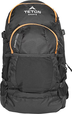 TETON Sports Oasis 1200 3-Liter Hydration Backpack; Day Pack Perfect for Hiking, Cycling, Biking, Climbing, Hunting, Running, and Outdoor Activities; 3L Water Bladder Included; Sewn-in Rain Cover; Black - onlinesportsmall