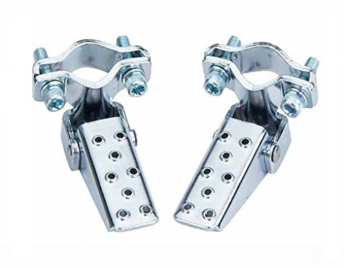 Steel Foldable Fork Step Pegs In Chrome - onlinesportsmall