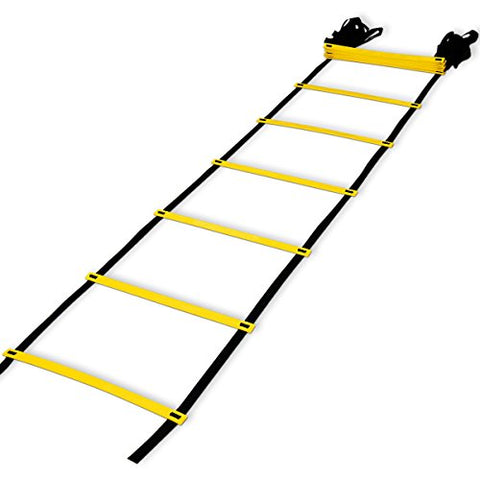 Teenitor 12 rung Agility Ladder Speed ladder Training ladder for Soccer, Speed, Football Fitness Feet Training with Carry Bag - onlinesportsmall