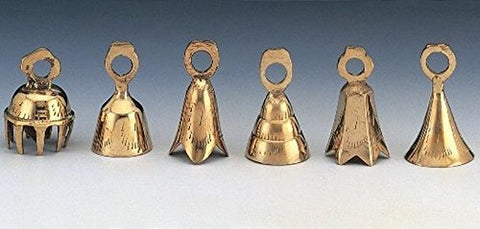 "India Arts Two Dozen Assorted 2"" Brass Bells - onlinesportsmall"