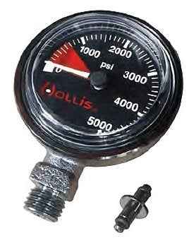 Hollis New Heavy Duty Brass SPG Submersible Pressure Gauge w/o Boot/Hose (PSI) - onlinesportsmall