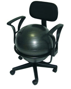 Ball Chair Deluxe - Black Steel Structure - onlinesportsmall
