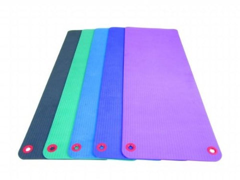 "EcoWise Essential Workout / Fitness Mat, 3/8""x20""x48"" with eyelets, Blue Dhalia - onlinesportsmall"