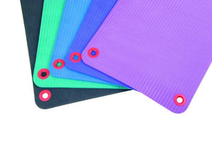 "EcoWise Essential Workout / Fitness Mat, 3/8""x20""x48"" with eyelets, Plum - onlinesportsmall"