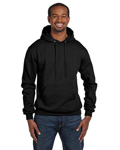 Champion Men's Front Pocket Pullover Hoodie Sweatshirt, Medium, Black - onlinesportsmall