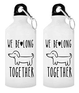 Couples Gifts for Couples We Belong Together Matching Couple Gifts Anniversary Gifts for Couple Gift 2-Pack Aluminum Water Bottles with Cap & Sport Top White - onlinesportsmall