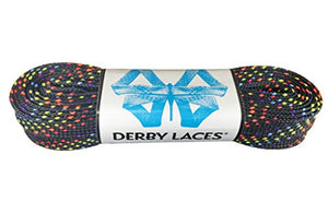 Rainbow 108 Inch Waxed Skate Lace - Derby Laces for Roller Derby, Hockey and Ice Skates, and Boots - onlinesportsmall