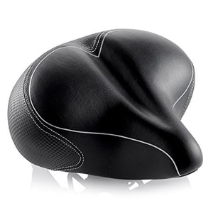 Oversized Comfort Bike Seat Most Comfortable Replacement Bicycle Saddle for Cycling | Universal Fit for Outdoor Exercise Bikes & Indoor Spin Bikes | Wide Soft Padded Bike Saddle For Women and Men - onlinesportsmall