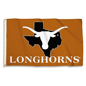Texas Longhorns - 3 Ft. X 5 Ft. Flag With Grommets - onlinesportsmall