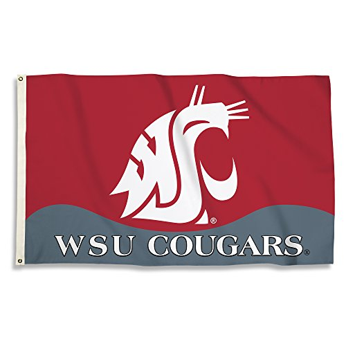 Washington State Cougars - 3 Ft. X 5 Ft. Flag With Grommets - onlinesportsmall