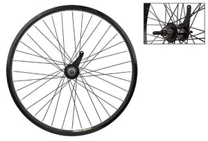 "Wheel Master 24"" Cruiser/Comfort Rear Wheel - Weinmann AS7X Rim, 36H, Coaster Hub, Black - onlinesportsmall"