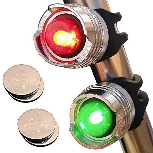 Bright Eyes Green & Red Aluminum Portable Marine LED Boating Lights - Boat Bow or Stern Emergency Backup Safety Lights for Maximum Attention - Waterproof - onlinesportsmall