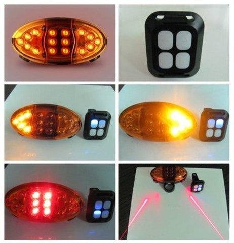 Wireless LED and Laser Bike Blinker and Tail light - onlinesportsmall