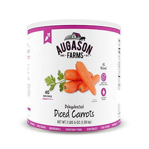 Augason Farms Dehydrated Diced Carrots 2 lbs 6 oz No. 10 Can - onlinesportsmall