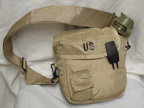 Military issue 2 Quart Water Canteen with New Issue Insulated Carrier and Shoulder Sling - onlinesportsmall