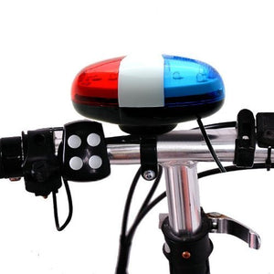 Optimal Shop 6 Bike Bicycle Police LED Light + 4 Loud Siren Sound Trumpet Cycling Horn Bell - onlinesportsmall