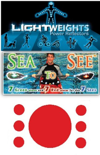 Lightweights Sea To See Reflectors (Red and Green Dots, 14-Piece) - onlinesportsmall