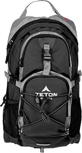 Teton Sports Oasis 1100 2 Liter Hydration Backpack; Day Pack Perfect for Hiking, Running, Cycling, Biking, Climbing, and Hunting; 2 L Water Bladder Included; Sewn-in Rain Cover; Black - onlinesportsmall