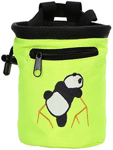 AMC(TM) Rock Climbing Panda Bear Chalk Bag w/ Drawstring, 7184_Fluorescent - onlinesportsmall