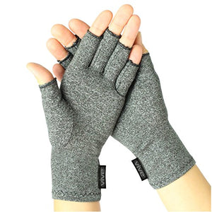 Vive Arthritis Gloves - Compression Glove for Rheumatoid, Osteoarthritis - Heat Hand Gloves for Computer Typing, Arthritic Joint Pain Relief, Carpal Tunnel - Men, Women - Open Finger Thumb (Large) - onlinesportsmall