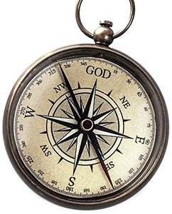 God is My Guide Compass with Display Stand--Unique | Uplifting | Heavenly Gift of Faith. The Perfect Baptism Gift, Missionary, Birthday, or Confirmation Gift - onlinesportsmall