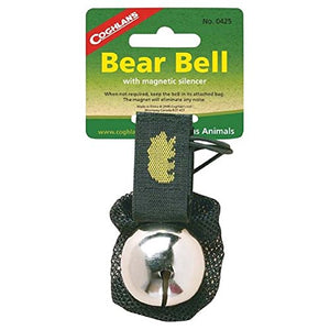 Coghlan's Ringing Bear Bell Metal w/ Magnetic Silencer CHROME - onlinesportsmall