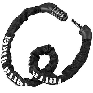 Terra Hiker Bike Chain Lock, Coiling 5-Digit Combination Lock for Bicycles, Keyless - onlinesportsmall