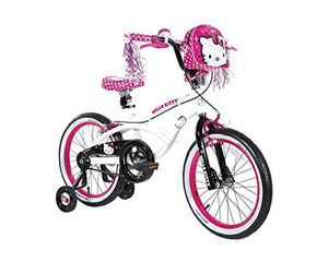 Hello Kitty Dynacraft Girls BMX Street Bike 18 , White/Black/Pink - onlinesportsmall