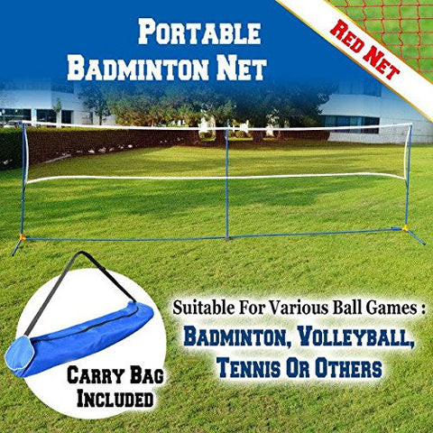 BenefitUSA 20' L Portable 3-IN-1 Volleyball Tennis Badminton Training Net Set Beach With Carrying Bag - onlinesportsmall