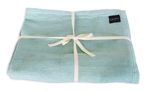 Cozy Cotton Yoga Blanket, Green - onlinesportsmall