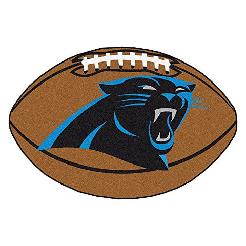 FANMATS NFL Carolina Panthers Nylon Face Football Rug - onlinesportsmall
