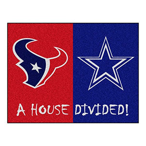 Fanmats 15556 Team Color 33.75  x 42.5  Rug (NFL - Texans - Cowboys House Divided) - onlinesportsmall