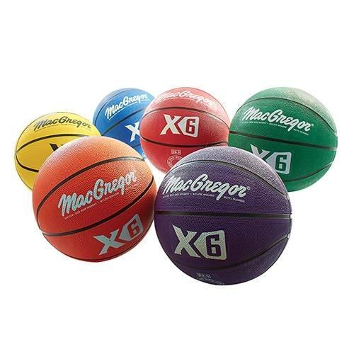 MacGregor Multicolor Basketballs (Set of 6) - Official Size (29.5\) - onlinesportsmall
