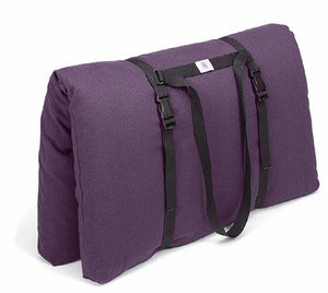 Hugger Mugger Zabuton Meditation Pillow and Harness (Plum) - onlinesportsmall