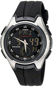 Casio Men's AQ160W-1BV Ana-Digi Stainless Steel Watch with Black Band - onlinesportsmall