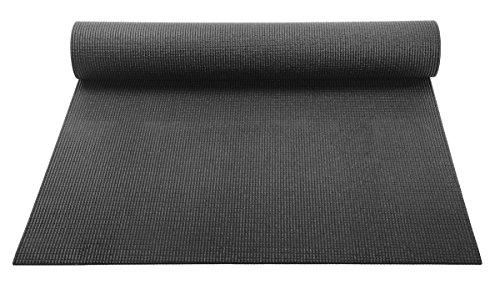 YogaAccessories 1/8'' Lightweight Classic Yoga Mat and Exercise Pad - Black - onlinesportsmall