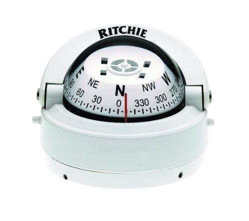 Ritchie Explorer Compass Dial With Surface Mount And 12V Green Night Lighting (White, 2 3/4-Inch) - onlinesportsmall