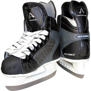 American Athletic Shoe Boy\'s Ice Force Hockey Skates, Black, 13 - onlinesportsmall