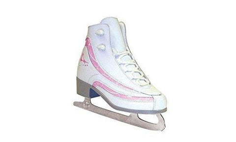 American Athletic Shoe Girl\'s Soft Boot Ice Skates, White, 2 - onlinesportsmall