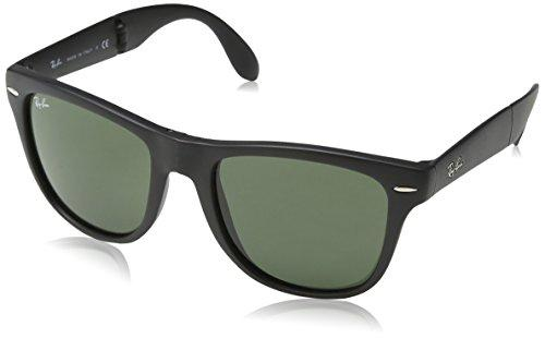 Ray Ban RB4105 Fold Wayfarer Sunglasses-601/58 Black (Green Polar Lens)-54mm - onlinesportsmall