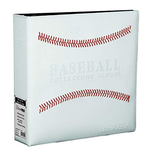 White Stitched Baseball Card Collectors Album - onlinesportsmall