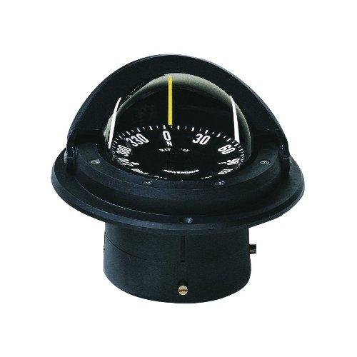 Ritchie Voyager Compass Flat-Card Dial With Flush Mount And 12V Green Night Light (Black, 3-Inch) - onlinesportsmall