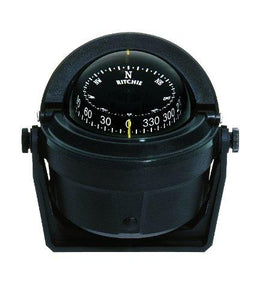 Ritchie B-81 Navigation Voyager Compass 3-Inch Dial with Bracket Mount (Black) - onlinesportsmall