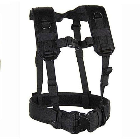 BLACKHAWK! Load Bearing Suspenders/Harness - Black - onlinesportsmall